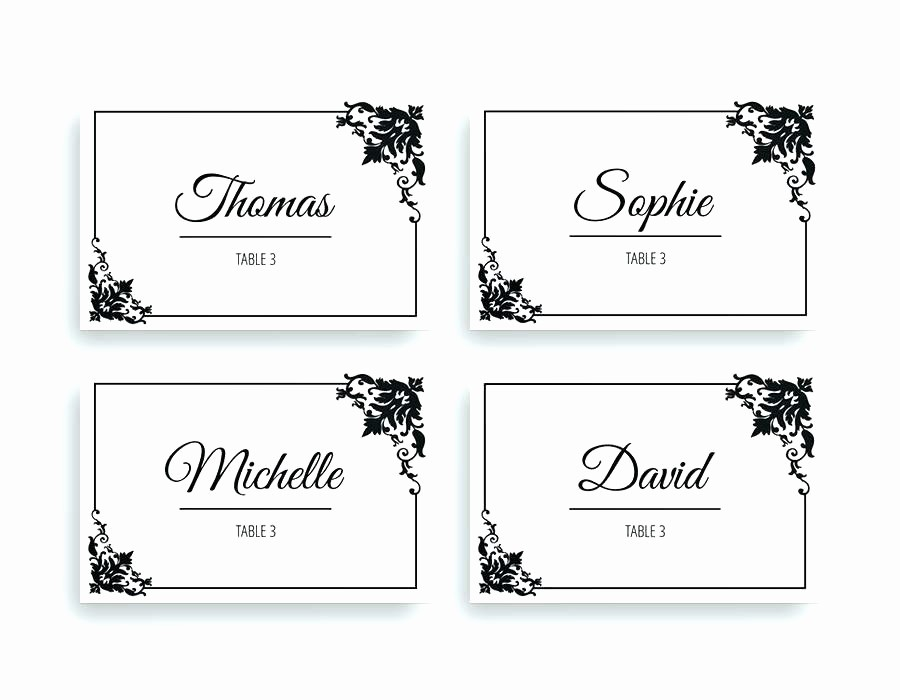 Name Tag Table Tent Template Fresh Place Card Template Word Table Free Name format – Spitznas