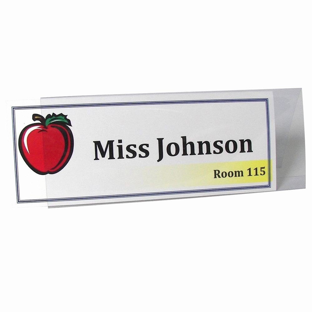 Name Tag Table Tent Template Luxury C Line Rigid Plastic Name Tent Card Holder Clear