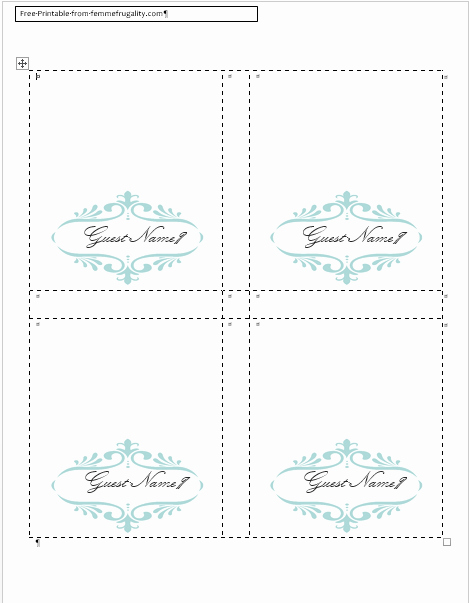 Name Tag Table Tent Template Unique How to Make Your Own Place Cards for Free with Word and