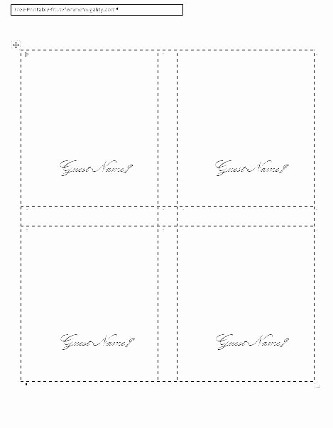 Name Tag Table Tent Template Unique Table Place Cards Template Free Name Tags Printable Card