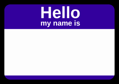 Name Tag with Photo Template Awesome Purple Name Tag Label Templates Ol5030 Linelabels