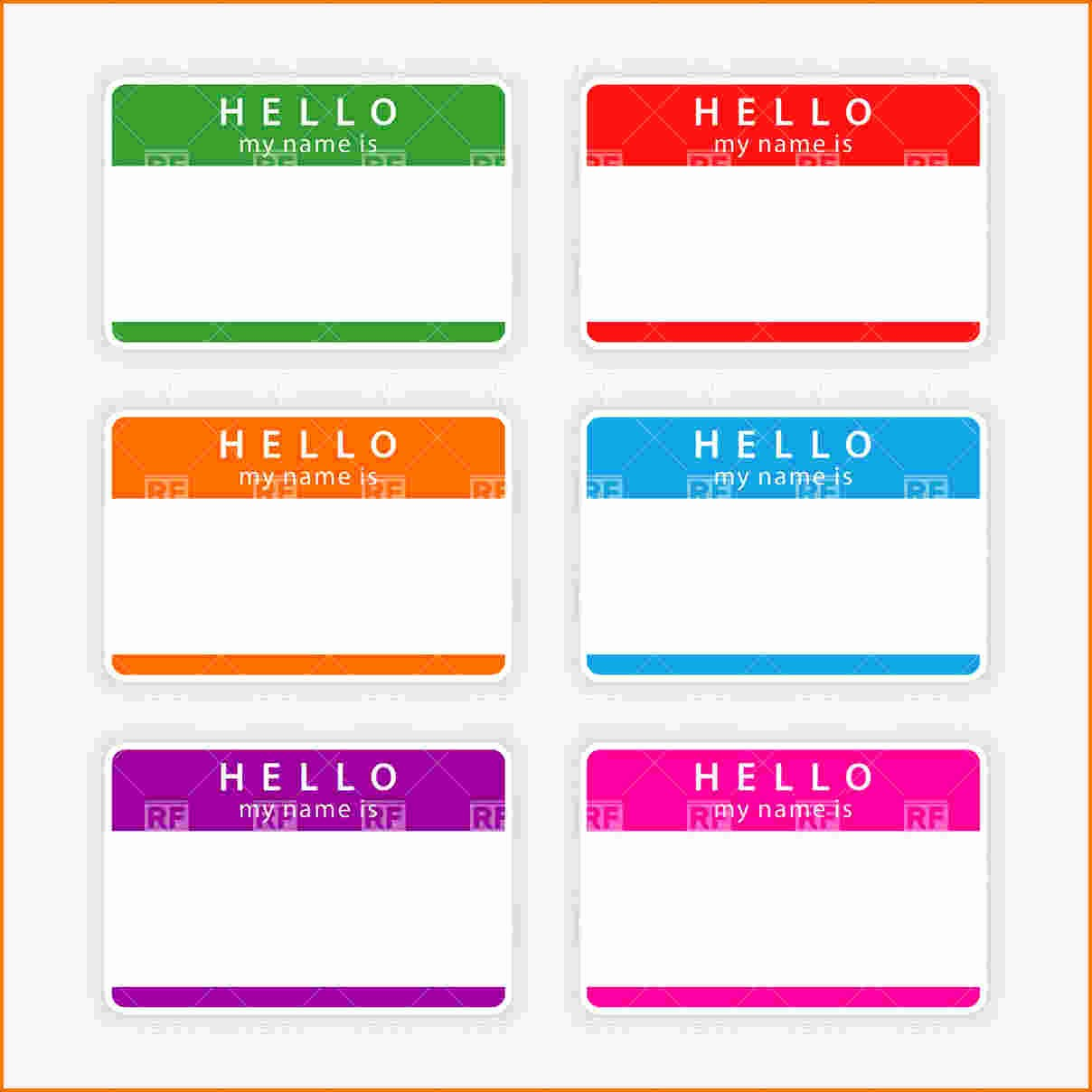 Name Tag with Photo Template Beautiful 3 Name Tag Templates