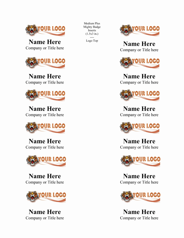 Name Tag with Photo Template Beautiful 5 Name Tag Templates to Print Custom Name Tags