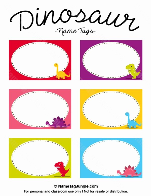 Name Tag with Photo Template Beautiful Free Printable Dinosaur Name Tags the Template Can Also