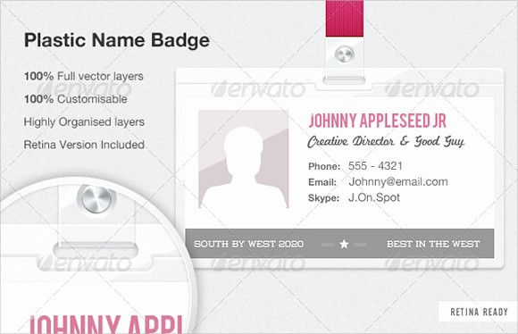 Name Tag with Photo Template Best Of 9 Name Badge Templates to Download
