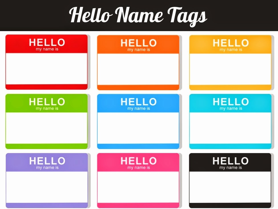 Name Tag with Photo Template Best Of Daily Favor Hello My Name is