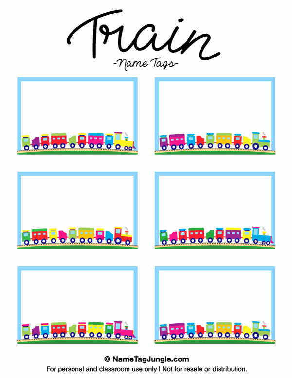 Name Tag with Photo Template Fresh Free Printable Train Name Tags the Template Can Also Be