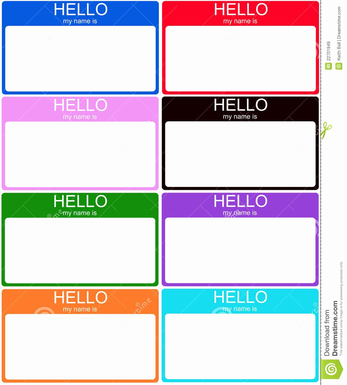 Name Tag with Photo Template Fresh Nametags Gallery