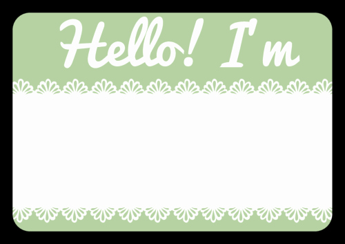 Name Tag with Photo Template Inspirational Name Tag Label Templates Hello My Name is Templates