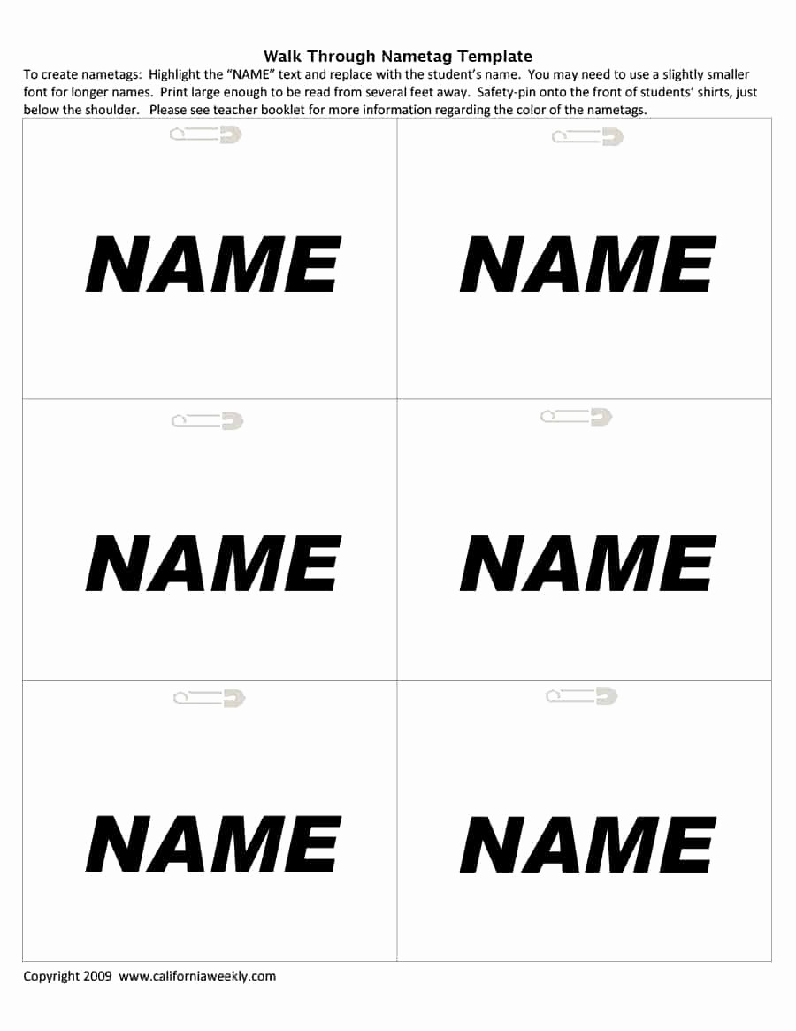 Name Tag with Photo Template Luxury 47 Free Name Tag Badge Templates Template Lab
