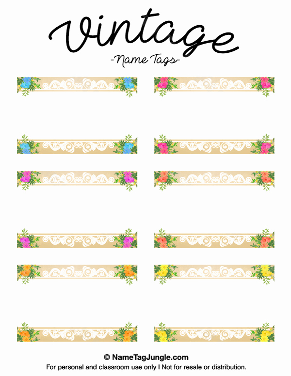 Name Tag with Photo Template Unique Free Printable Vintage Name Tags the Template Can Also Be