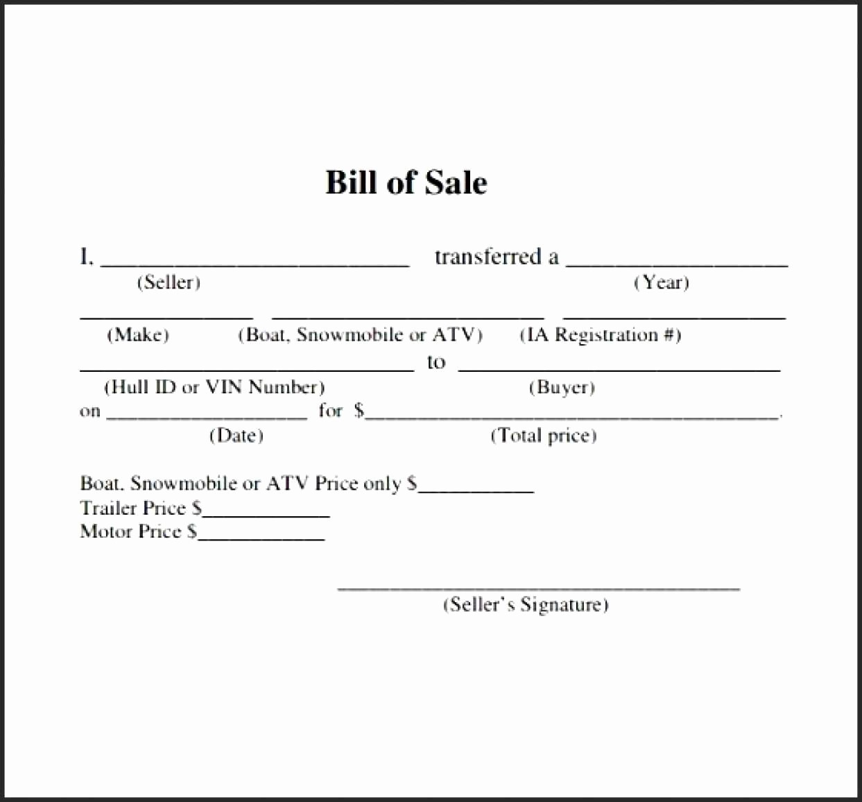 Nc Auto Bill Of Sale Lovely Bill Sale Template Nc Sample Worksheets Boat Handgun