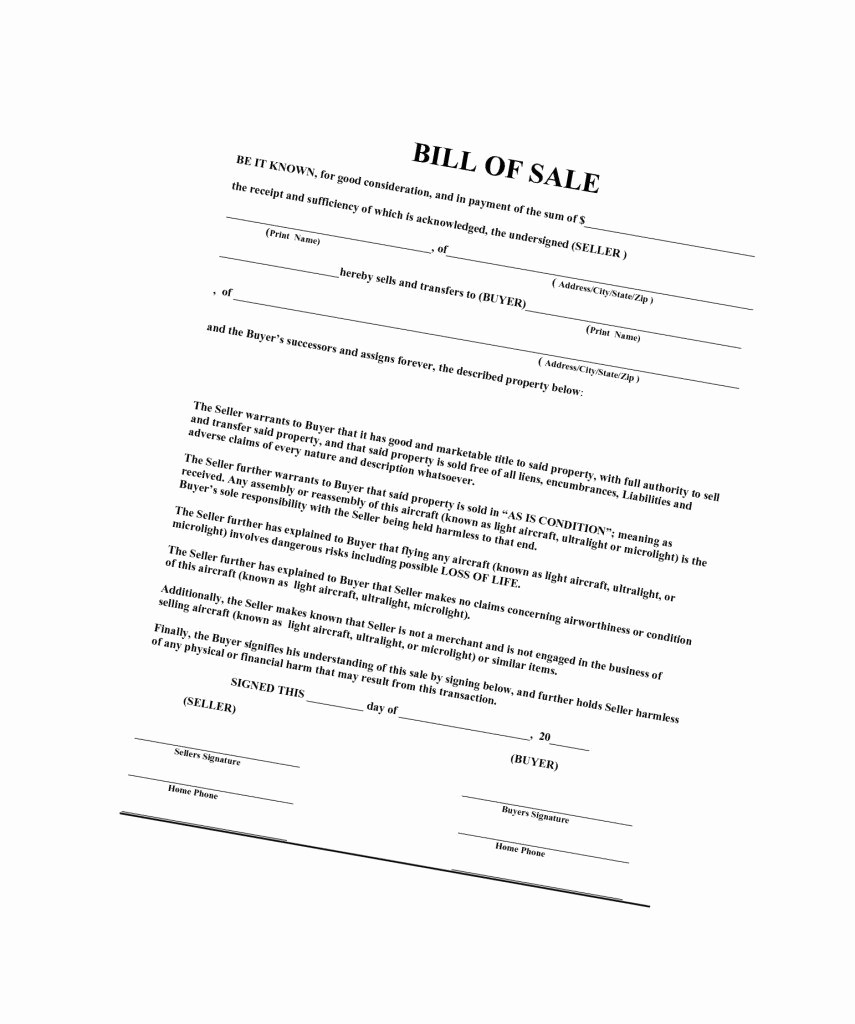 Nc Auto Bill Of Sale New Bill Sale Template Nc Sample Worksheets Boat Free