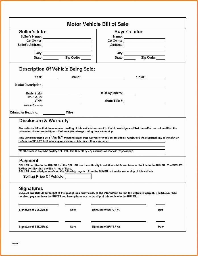 Nc Bill Of Sale Dmv Best Of Dmv Receipt How to Write A Bill Sale Bill Sale form
