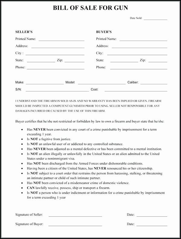 Nc Bill Of Sale Dmv Elegant Printable Bill Sale Texas Motor Vehicle Gun form