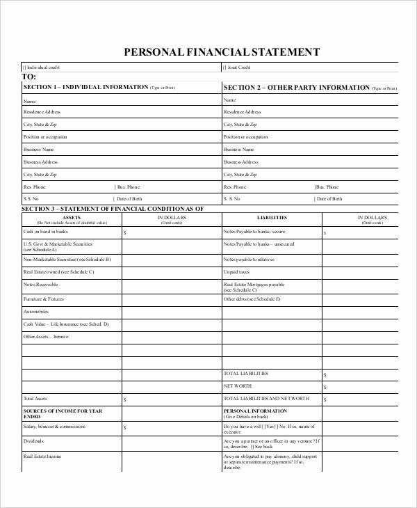 Net Worth Statement format Individual Best Of 29 Financial Statement Examples & Samples Pdf Word Pages