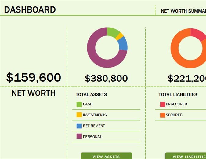 Net Worth Statement format Individual Fresh Net Worth Summary Fice Templates