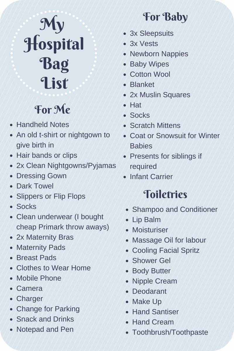 New Born Baby Check List Awesome What to Pack In Your Hospital Bag Checklist