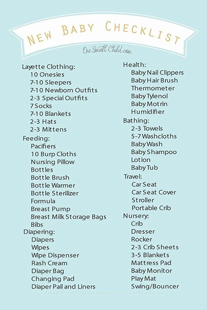 New Born Baby Check List Beautiful Free Printable New Baby Checklist From