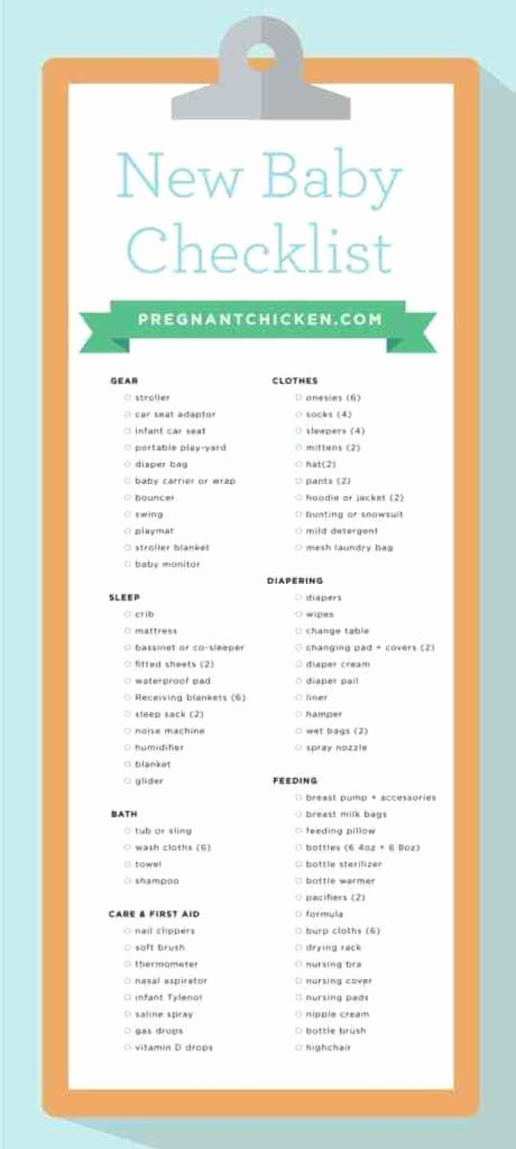 New Born Baby Check List Beautiful New Baby Checklist What to Get when Expecting