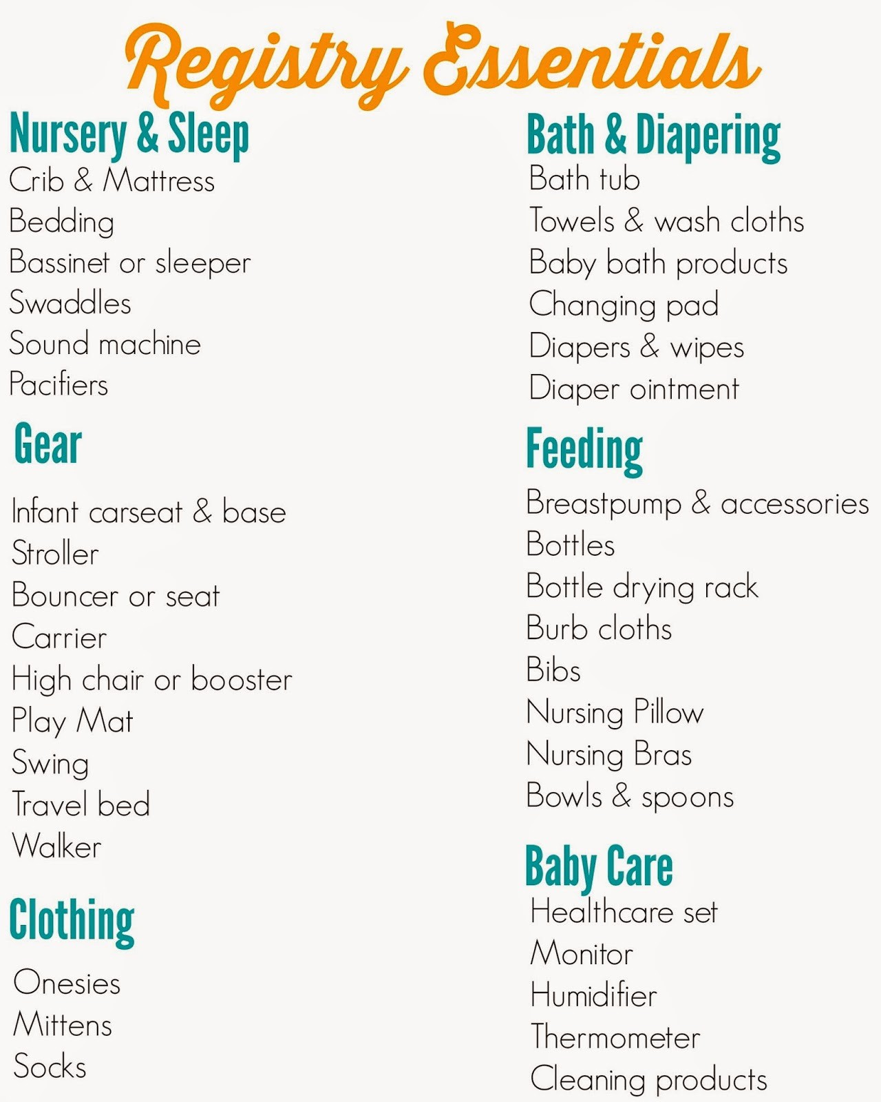 New Born Baby Check List Best Of the Ultimate Registry Checklist the Chirping Moms