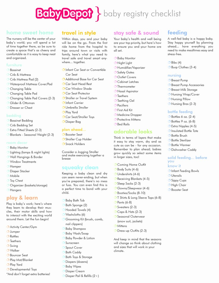 New Born Baby Check List Elegant Best 25 Baby Registry Checklist Ideas On Pinterest