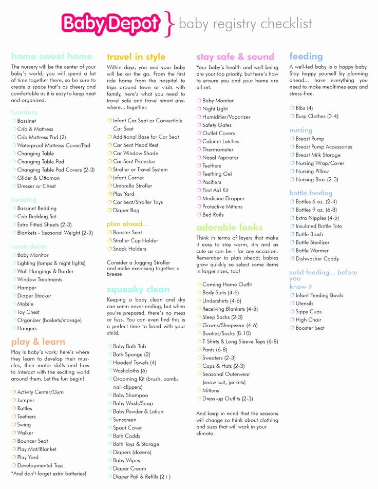 New Born Baby Check List Elegant Best 25 Baby Registry Checklist Ideas On Pinterest