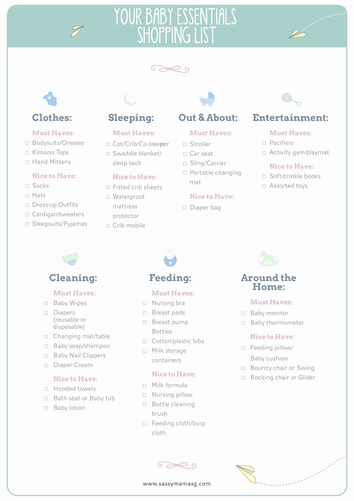 New Born Baby Check List Elegant Sassy Mama S Downloadable Baby Checklist