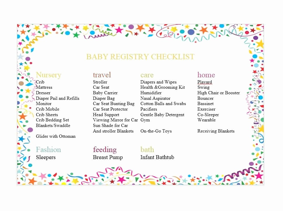 New Born Baby Check List Inspirational 30 Baby Registry Checklists Newborn Baby Checklists