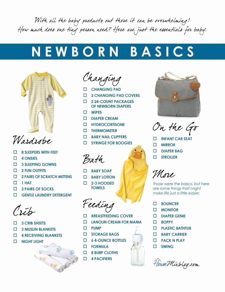 New Born Baby Check List New 25 Best Ideas About Newborn Essentials List On Pinterest