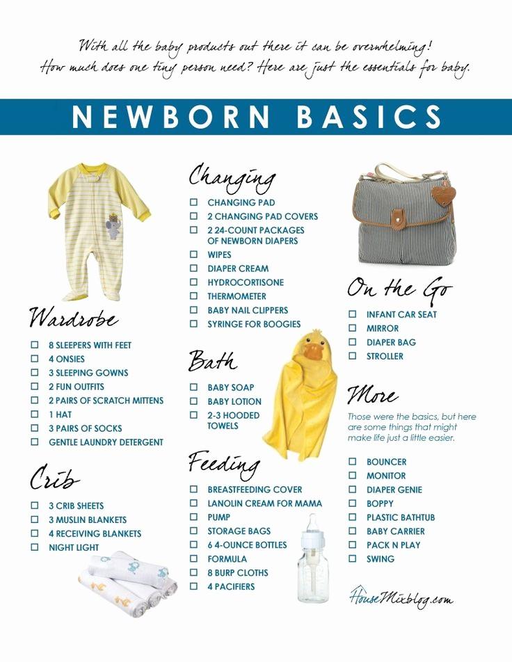 New Born Baby Check List New 25 Best Ideas About Newborn Essentials List On Pinterest