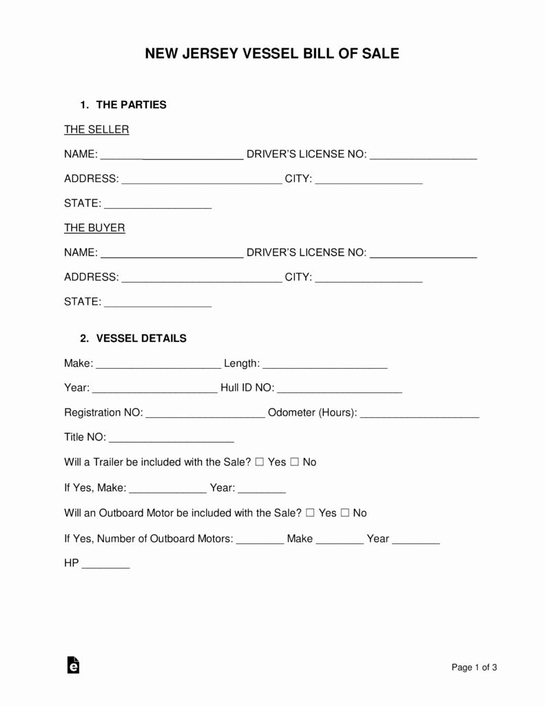 New Car Bill Of Sale Awesome Nj Division Motor Vehicles forms Impremedia