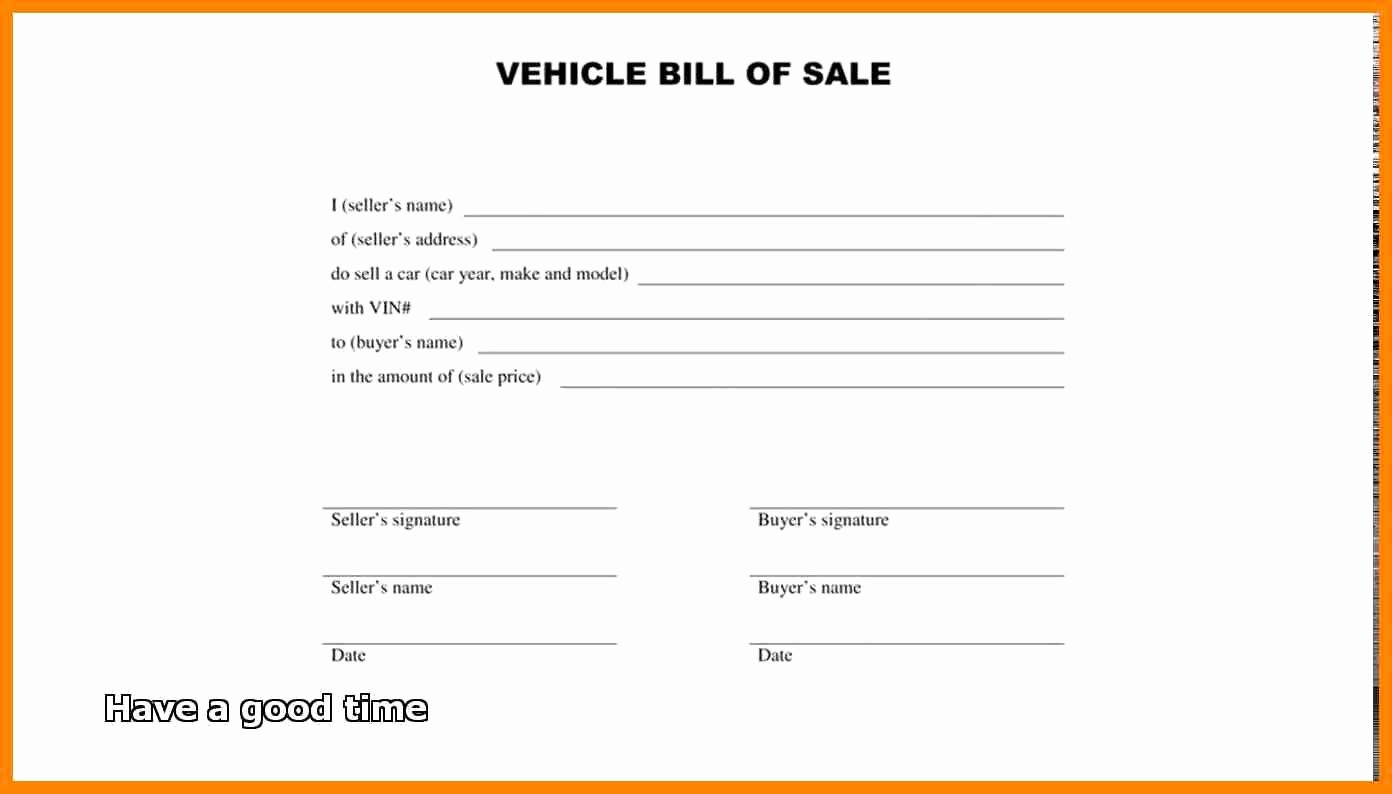 New Car Bill Of Sale Beautiful Terrific Pics Vehicle Bill Sale Nc Twilightblog