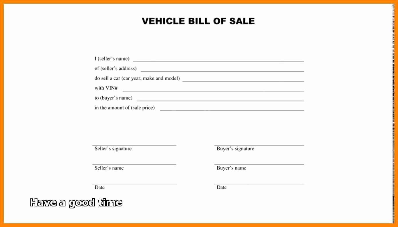 New Car Bill Of Sale Beautiful Terrific Pics Vehicle Bill Sale Nc Twilightblog