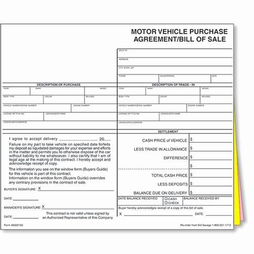 New Car Bill Of Sale Unique Auto Dealer Bill Of Sale forms Style 1