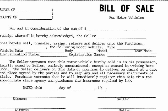 New Car Bill Of Sale Unique Car Bill Sale