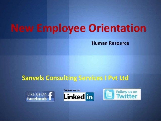 New Employee orientation Powerpoint Presentation Unique New Employee orientation for A Pany Human Resource Ppt