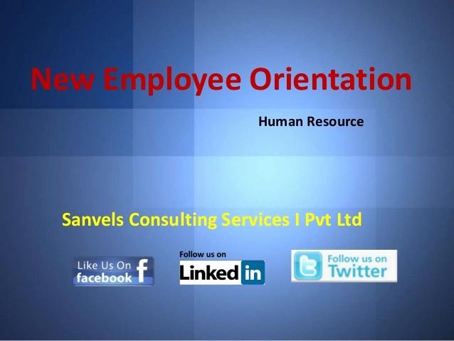 New Employee orientation Powerpoint Presentation Unique New Employee orientation for A Pany Human Resource Ppt