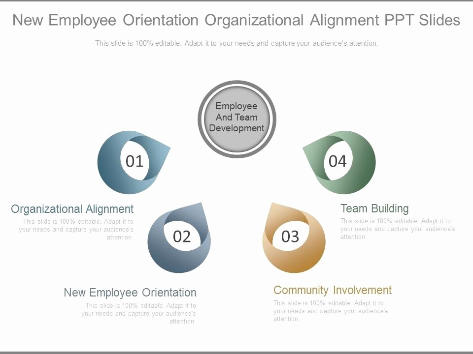 New Hire orientation Powerpoint Presentation Fresh New Employee orientation organizational Alignment Ppt