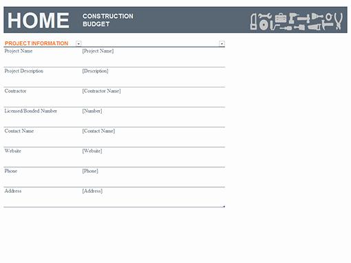 New Home Construction Budget Worksheet Elegant Bud S Fice