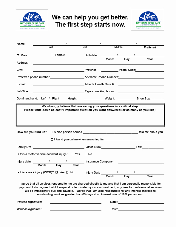 New Patient Health History form Beautiful New Patients
