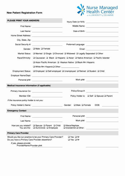 New Patient Medical History forms Elegant Fillable New Patient & Medical History form Page 2 Of 4