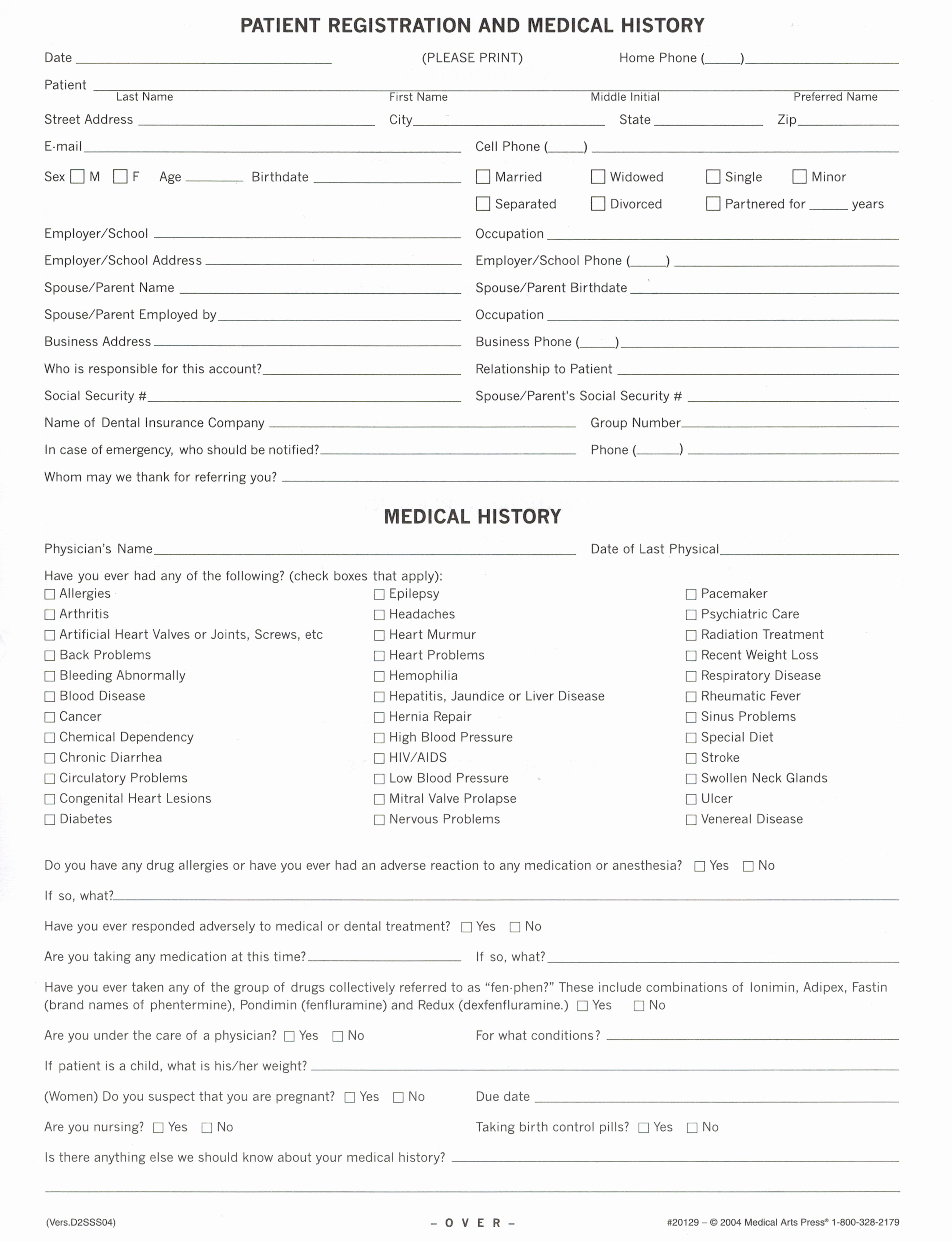 New Patient Medical History forms Fresh Donald & Cynthia Jetter Dmd Patient forms