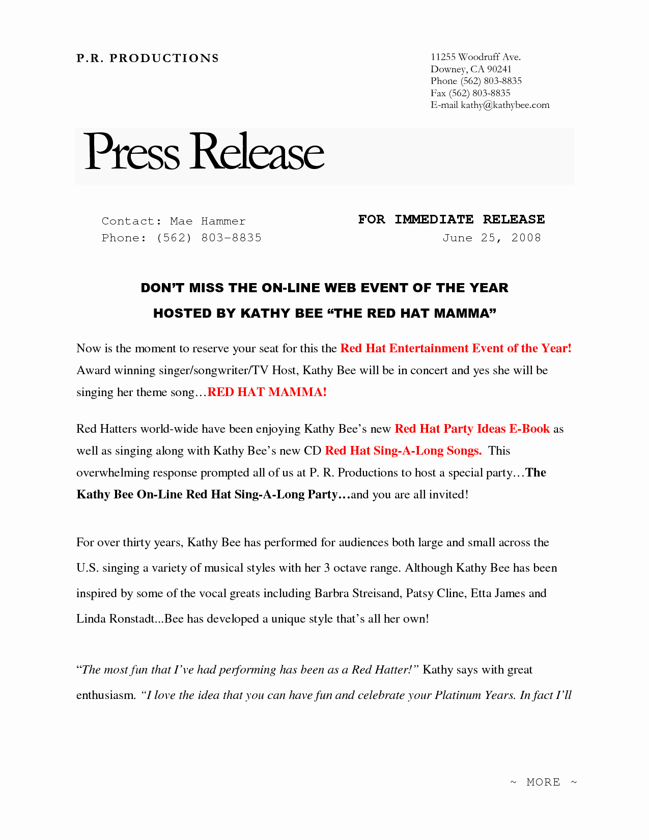 New Product Press Release Sample Awesome 10 Best Of New Website Press Release Example