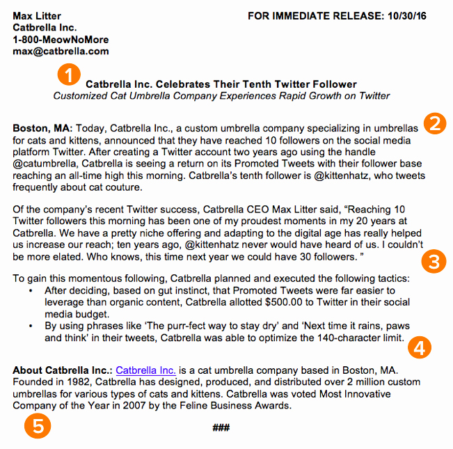 New Product Press Release Sample Best Of How to Write A Press Release [free Press Release Template