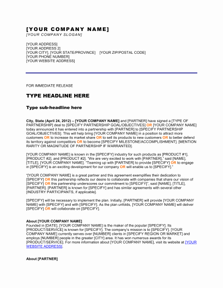 New Product Press Release Sample Elegant 8 Best Of New Hire Press Release format New