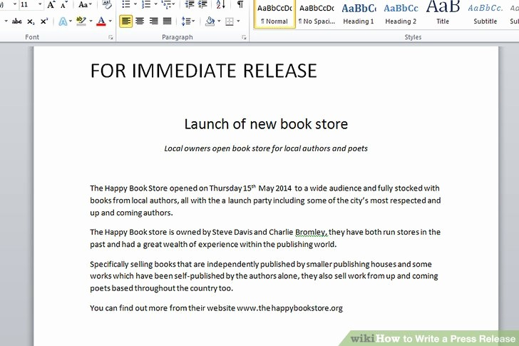 New Product Press Release Sample Luxury the 3 Best Ways to Write A Press Release with Example