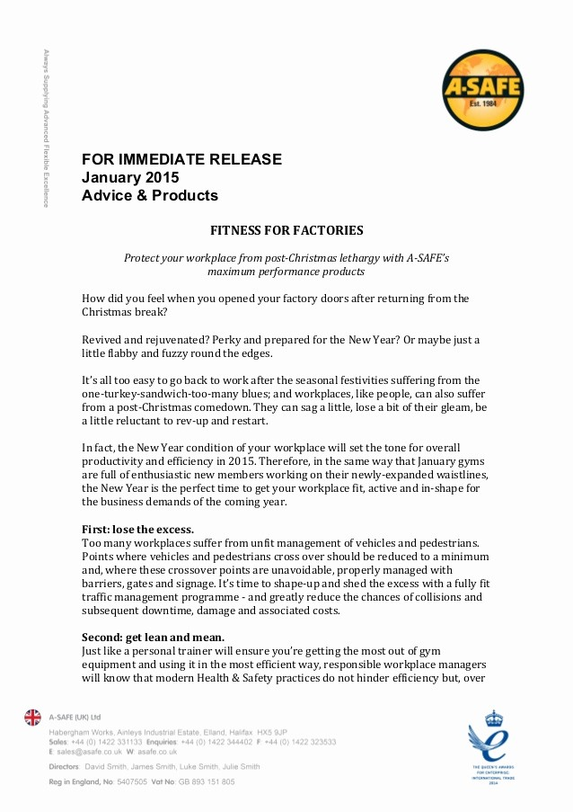 New Product Press Release Sample Unique Press Release Template
