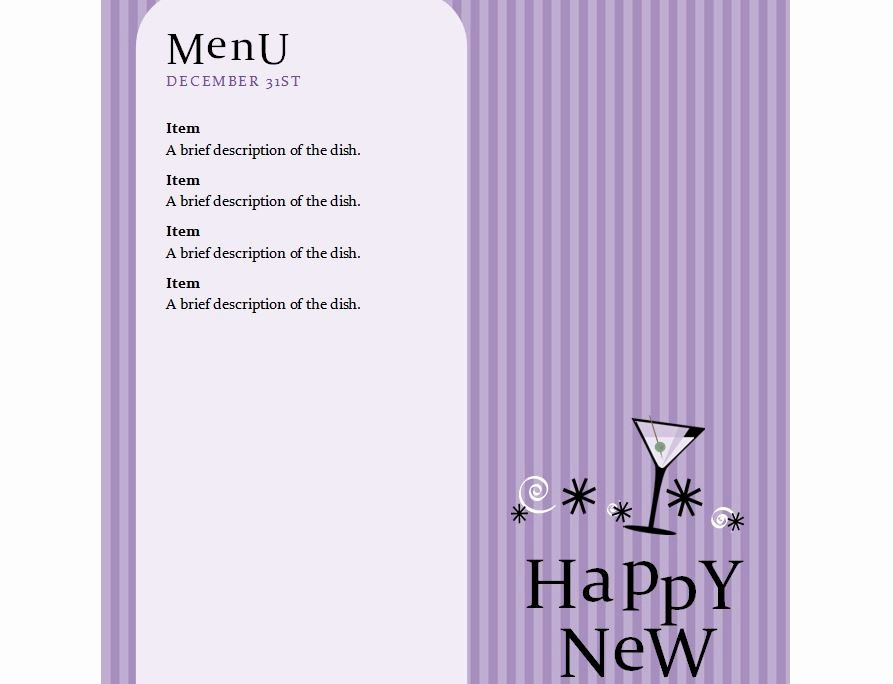 "New Years Eve Menu Template Awesome Search Results for ""free Dinner Menu Template New Year"
