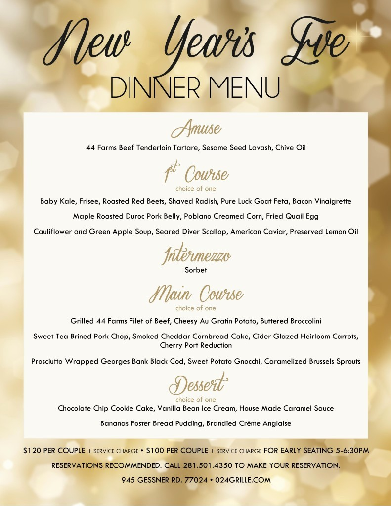 New Years Eve Menu Template Beautiful 024 Grille at Memorial City New Year S Eve Dinner Menu